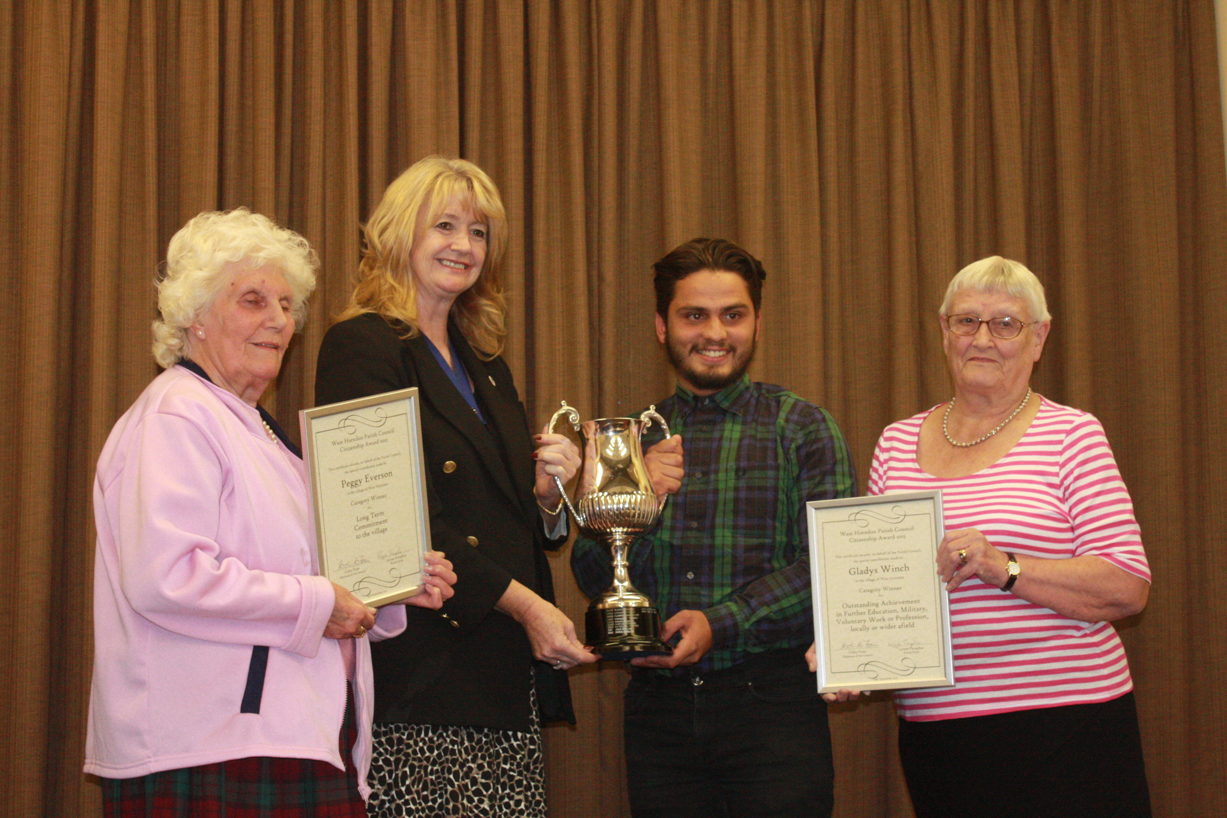 Citizenship Award Winners 2015